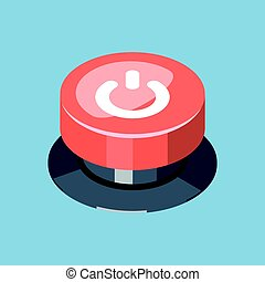 3D Emergency start stop red button.