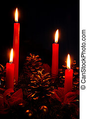 Advent - Four candles - Christmas decorations