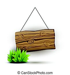 Wooden sign concept