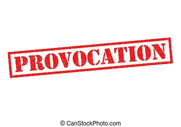 PROVOCATION Rubber Stamp - PROVOCATION red Rubber Stamp over...