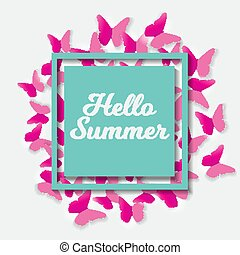 Say Hello to Summer Natural Background Vector Illustration...