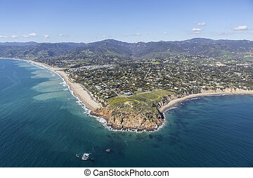 Point Dume State Park Malibu California - Aerial view of...