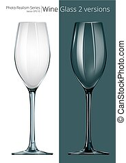 Wine Glass. - Vector of Wine Glass. 2 different transparency...