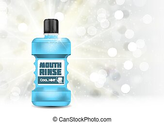 Mouth Rinse Design Cosmetics Product Template for Ads or...
