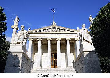 el, nacional, Academia, atenas, (Greece)