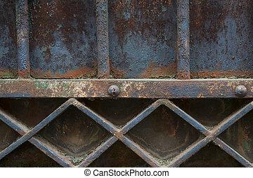 Old metal gate detail