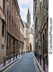 Street in Toulouse - Narrow street in old center of...