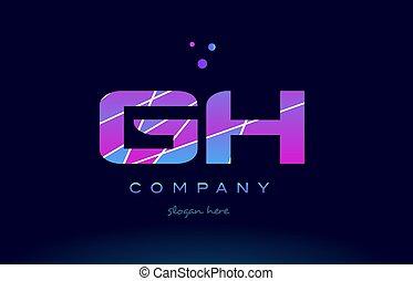 azul, rosa, coloreado, G, púrpura, H, vector, carta,...