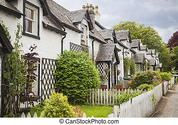 Old cottages in Kenmore, Scotland