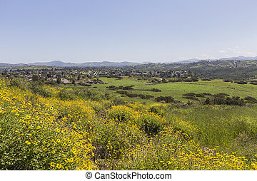 Spring view of Thousand Oaks California. - Spring view of...