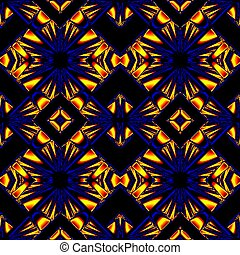 blue yellow seamless pattern - stylized seamless pattern...
