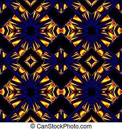 blue yellow seamless pattern - stylized seamless pattern...