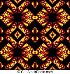 seamless pattern in colors of fire - stylized seamless...