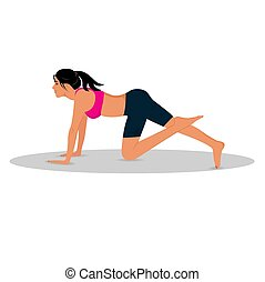 fitness woman doing exercises