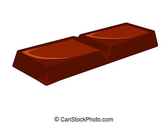Chocolate bar vector illustration isolated