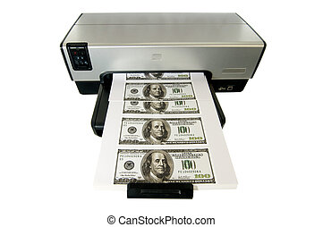 Making Money at Home - Money Printed on a Desktop Home...