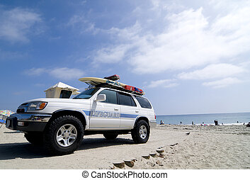 Lifeguard Rescue Truck - Lifeguard Rescue Vehicle on a...