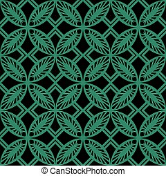 Antique seamless green background round square cross