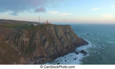 Cape Roca, Portugal. Views from the edge of continental...