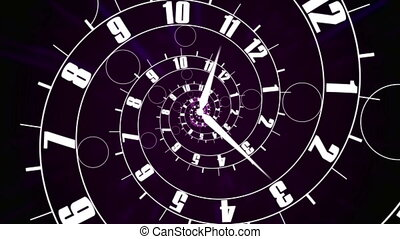 """Business time concept. Clock face into infinity."" - ""Clock..."