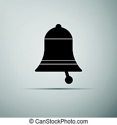 Bell icon on grey background. Adobe illustrator