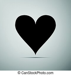 Heart icon on grey background. Adobe illustrator