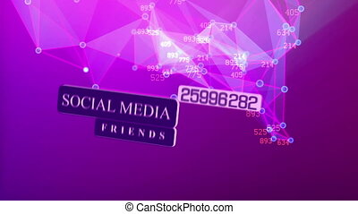 Social media network concept. Growth background with lines,...