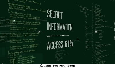 """Secret information words with access procentage"" - ""Secret..."