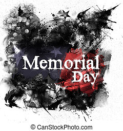Memorial day - An abstract illustration of black grunge...