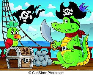 Pirate crocodile