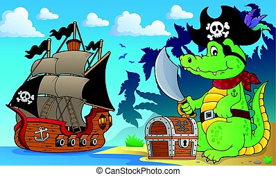 Pirate crocodile theme 4