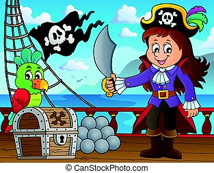 Pirate girl theme