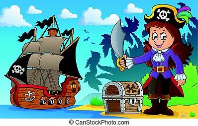 Pirate girl theme