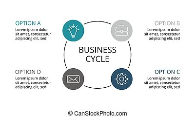 Vector circle infographic, cycle diagram, graph, presentation chart. Business concept with 3 options, parts, steps, processes.