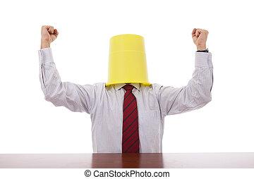 Successful buctket head men