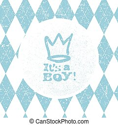 It's a boy lettering. Baby shower party design element....