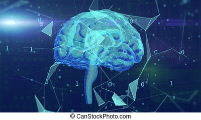 AI brain rotating - Artificial intelligence concept....