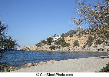 Hort Cove and Beach; Ibiza, Spain