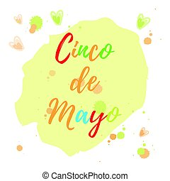 Greeting card of the Cinco de Mayo Day