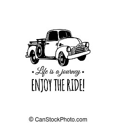 Life is a journey, enjoy the ride motivational quote with...
