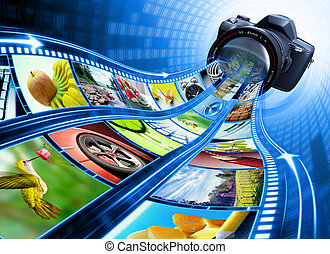 Film Strip Pictures - Professional camera takes pictures The...