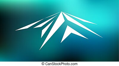 Logo emblem of mountain - Logo emblem of snow mountain peak...