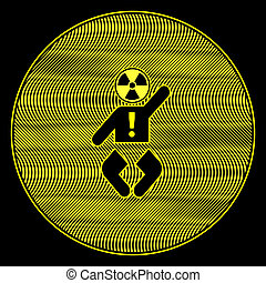 Baby exposed to Radiation - Concept sign to keep babies safe...