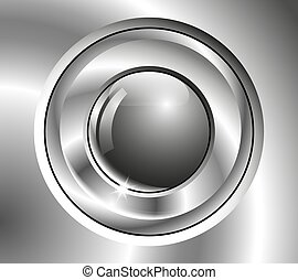 Image chrome button - Chrome button with difficult surface.