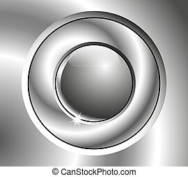Image chrome button - Image chrome button with two realistic...