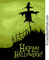 Halloween Scarecrow - Halloween Design Featuring the...