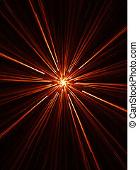 core - abstract chaos spiral core rays on dark background