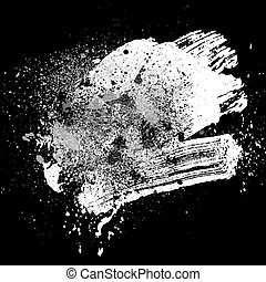 brushstroke white01 - smudge and smear a white brush on...