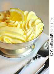 Closeup of ice cream