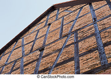 Half-timbered house - An old half-timbered house, which is...